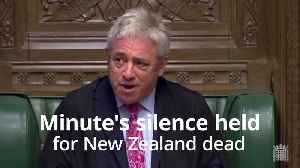 MPs hold minute's silence in solidarity with New Zealand [Video]