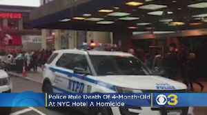 Police Rule Death Of Delaware 4-Month-Old At NYC Hotel A Homicide [Video]