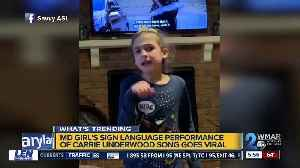 8-year-old deaf girl signing Carrie Underwood's song goes viral [Video]