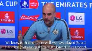News video: Pep Guardiola: It is a pleasure to play Spurs in Champions League quarter-finals