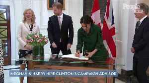 Meghan Markle and Prince Harry Hire Hillary Clinton's Campaign Advisor to Head Communications Team [Video]