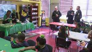 Philadelphia Police Officers Join Kindergarten Students At Saint Thomas Aquinas To Learn About St. Patrick's Day [Video]