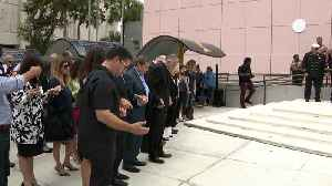 WEB EXTRA: Bells Tolls In Remembrance Of Victims Of Deadly FIU Bridge Collapse [Video]