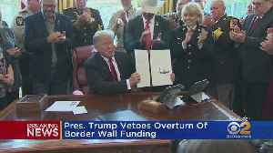 President Trump Vetoes Bill Blocking Border Wall [Video]