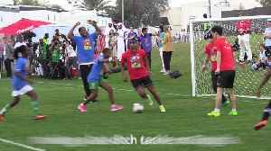 Drogba and Cafu go head to head in game with Special Olympics athletes [Video]