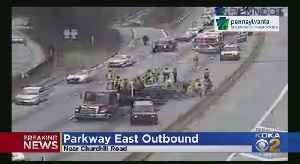 Rollover Accident On Parkway East Brings Traffic To A Halt [Video]