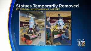 Pittsburgh Airport Statues Removed For Refurbishing [Video]