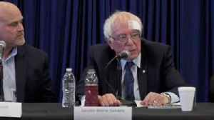 News video: Bernie Sanders Gets Stitches After Cutting Head On Glass Shower Door