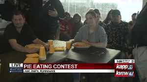 Pie eating contest live shot 1 [Video]