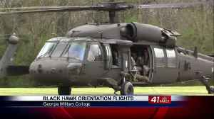 Black Hawk helicopters brought in for JROTC training [Video]