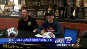 Butte College soccer star signs to play for Fresno Pacific [Video]