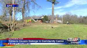 Tornado causes damage to community center [Video]