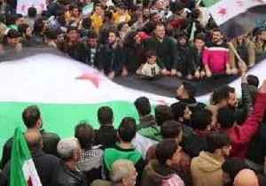 Protesters in Opposition-Held Areas Mark Eighth Anniversary of Syrian 'Uprising' [Video]