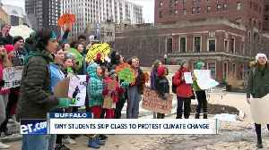 Western New York students skip class to protest climate change [Video]