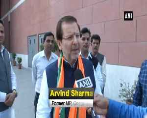 Former Congress MP from Haryana Arvind Sharma joins BJP [Video]