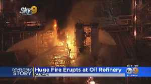 Refinery Fire Lights Up The Carson Night Sky [Video]