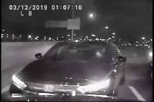Drunk and on the phone: Wrong way driver safely stopped by officers [Video]
