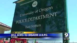 New bill aims to disarm campus police [Video]