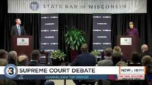 Wisconsin court candidates spar in first debate [Video]