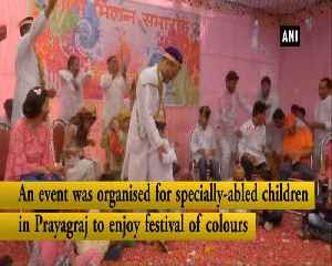 People celebrate Holi with specially-abled children in Prayagraj [Video]