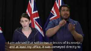 News video: New Zealand PM on 'mosque gunman's manifesto' and gun laws