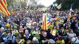 Mass rally in Madrid against trial of Catalan separatist leaders [Video]