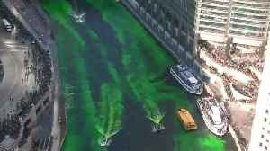 Chicago river turns green for St Patrick's Day [Video]