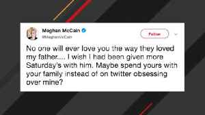 News video: Meghan McCain Fires Back At Trump After He Attacks John McCain Over Obamacare Repeal