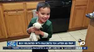 Boy reunited with favorite toy after San Diego trip [Video]