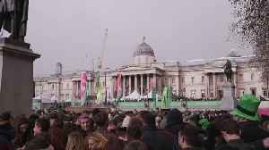 St Patrick's Day fun in London and Dublin [Video]