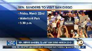 Sen. Sanders to visit San Diego March 22nd [Video]