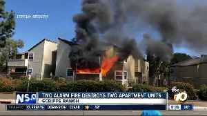 Two alarm fires destroy two apartment units [Video]