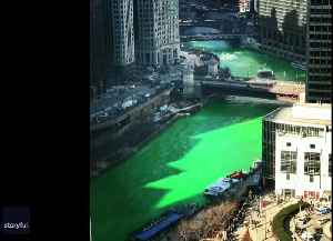 Timelapse Video Shows Chicago River Turning Green for St. Patrick's Day [Video]