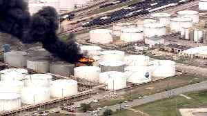 News video: Fire Breaks Out At Houston-Area Petrochemicals Terminal