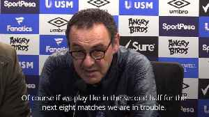 News video: Maurizio Sarri concerned with Chelsea mentality after Everton defeat