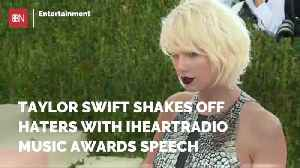 Taylor Swift Answers Haters In Awards Speech [Video]