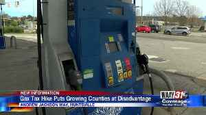 Gas tax hike puts growing counties as disadvantage [Video]