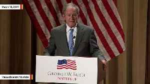 George W. Bush Calls Immigration A 'Blessing' During Naturalization Ceremony [Video]