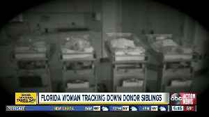 Florida woman tracking down sperm donor siblings [Video]
