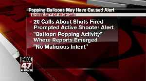 Popping balloons caused report of active shooter at U-M, police say [Video]