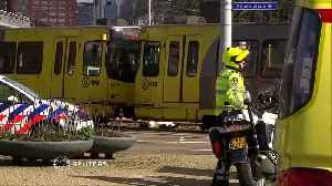 Dutch police cordon off scene of tram shooting after one fear dead and several injured [Video]