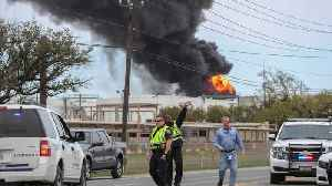 Petrochemical Fire Engulfs Eight Storage Tanks In Houston [Video]