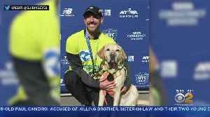 Blind Man Runs NYC Half Marathon With Guide Dogs [Video]