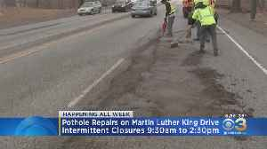 Pothole Repairs On Martin Luther King Drive Begin Today [Video]