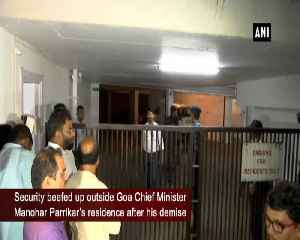 Security beefed up outside late Goa CM Manohar Parrikars residence [Video]
