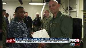 Local sailor completes special training Fort Myers [Video]