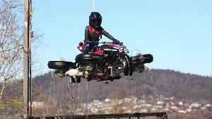 Company Demonstrate Flying Motorcycle [Video]
