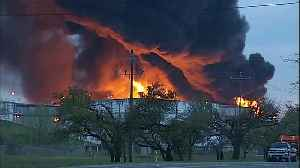 Fire continues to rage at Houston-area plant [Video]