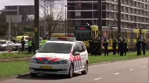 Dutch police cordon off scene of tram shooting after three fear dead and several injured [Video]