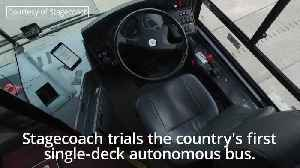 UK's first driverless bus tested in Manchester [Video]